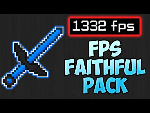 Minecraft PvP Texture Pack - FPS FAITHFUL EDIT NO LAG FPS BOOST BOOSTER Resource Pack 1.9 1.8 1.7