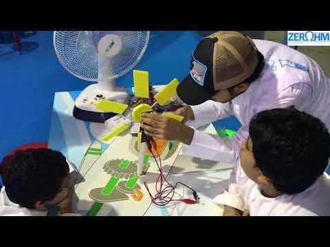 Zero Ohm's Wind Turbine Workshop at Abu Dhabi Science Festival 2017