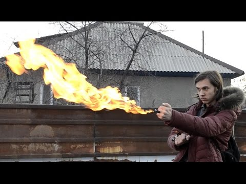 видео: как сделать РУЧНОЙ ОГНЕМЕТ! стань магом огня
