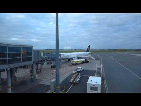 Lufthansa A321 Prague-Frankfurt-Cairo Exit Row Seat 11A Juni 2014