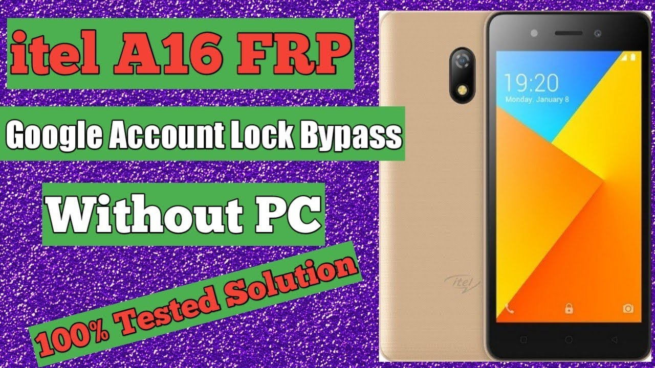 Itel A16 frp (google account lock) bypass without pc