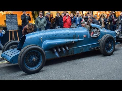 OLD RACE CARS With EXTREME BIG ENGINES Cold Start and Loud Sound