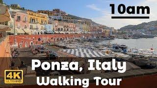 10am Ponza, Italy Walking Tour in 4K