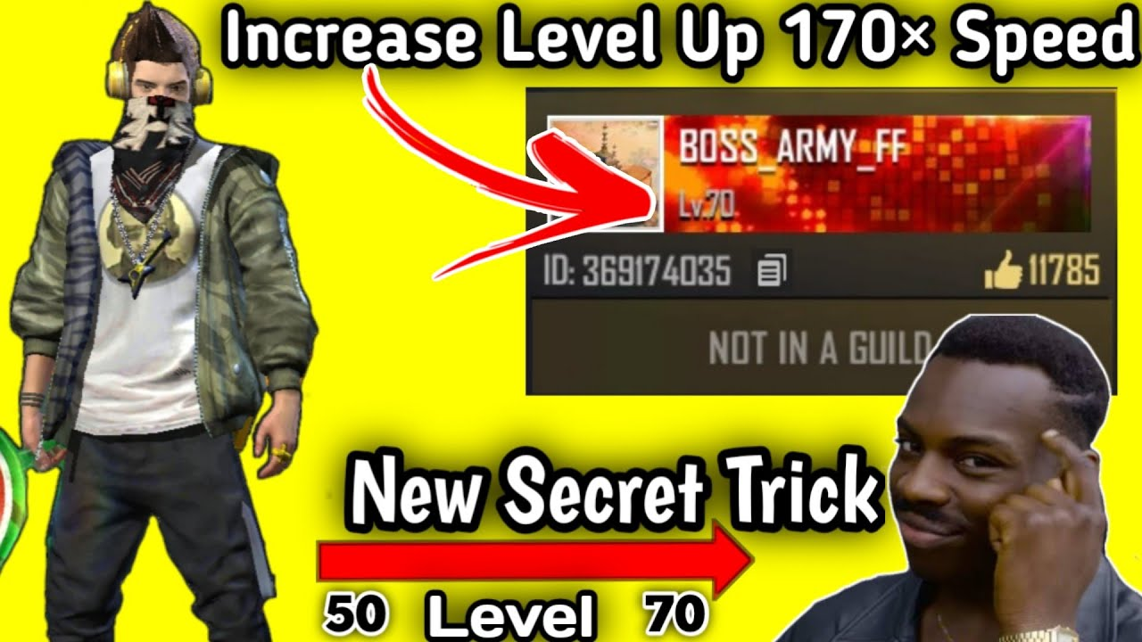 #Free Fire Increase Your Level 170X Speed New Secret Trick  Free Fire level तेजी से कैसे बढ़ाये