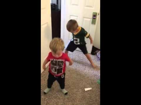 Chase and Cruise dancing to Justin Bieber
