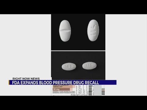 FDA Expands Blood Pressure Drug Recall