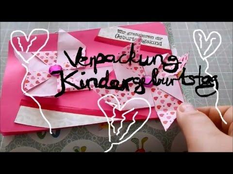 Diy Verpackung Und Karte Fur Kindergeburtstag Einfach Youtube