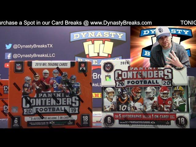 2019 2020 Contenders Football Card 6 Box Mixer Case Break #4   Sports Cards