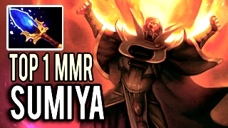 Top 1 MMR Immortal Invoker in The World - Without a Miss Sun Strike by Sumiya 7.02 Dota 2