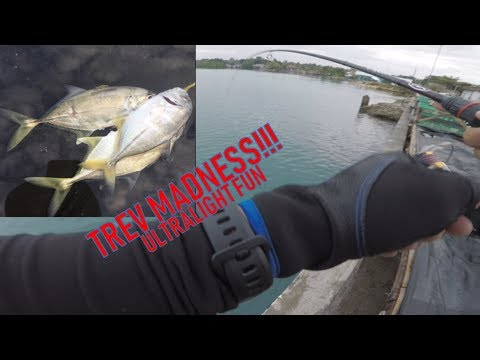 ULTRALIGHT FISHING PHILIPPINES!!! (Trevally Almost Every Cast)