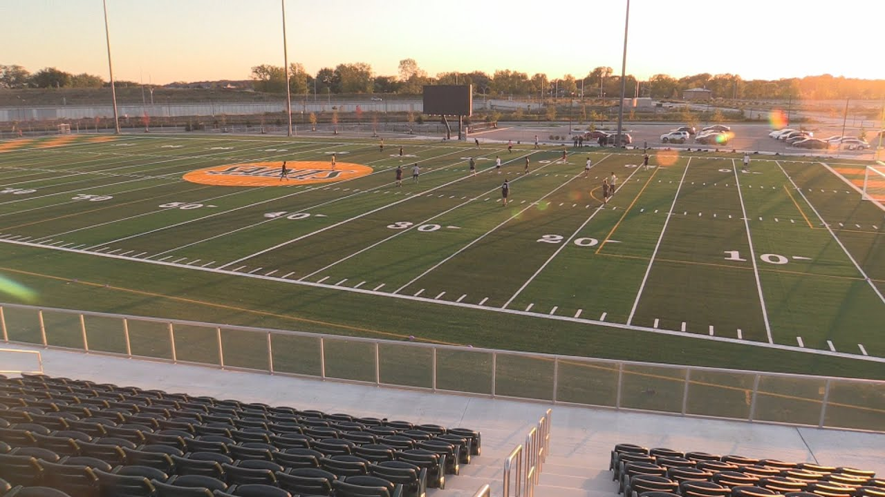St  Clair Men's Soccer test their new field