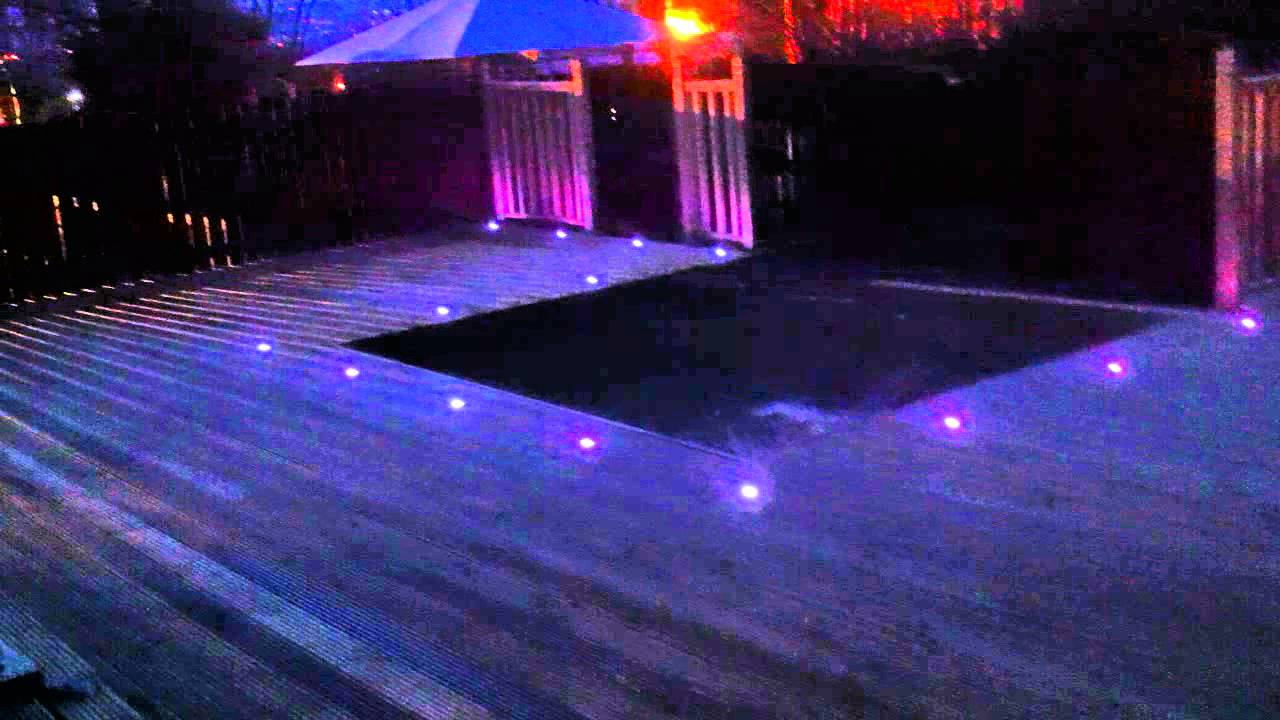 L E D Decking Lights On A Job Completed By Fedeck Fencing