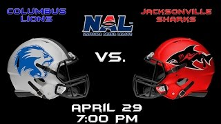 Columbus Lions vs. Jacksonville Sharks
