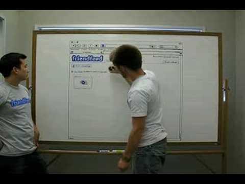 The FriendFeed Whiteboard (Old UI)
