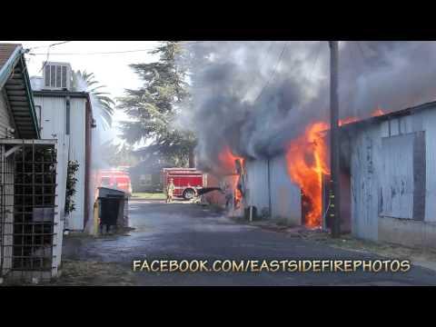 Riverbank liquor store fire (08/13/2014)
