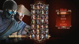 Mortal Kombat 9 - Expert Tag Ladder Raiden \u0026 Sub-Zero3 RoundsNo Losses