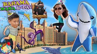 MAMAS' BAHAMAS DANCING SHARK B Day Celebration! FUNnel Vision 2018 Atlantis Hotel Vlog #2