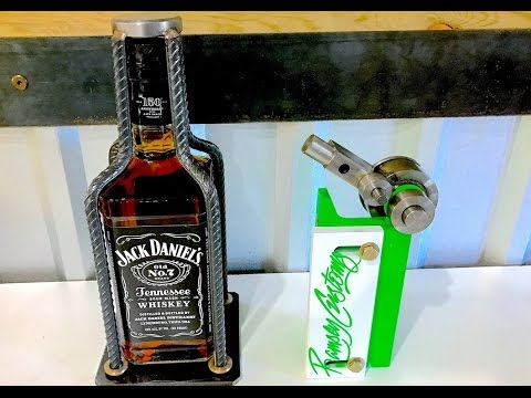 Jack Daniels Whiskey Stand - DIY Metal Bender - Cool Rebar Art Project
