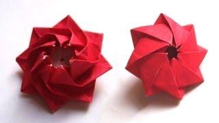 Origami Blütenkreisel by Carmen Sprung