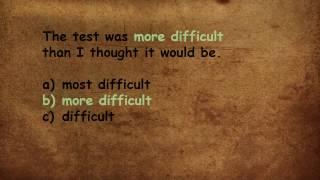 English grammar test 18 - comparative or superlative?
