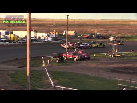 IMCA Stock Car Heats Wakeeney Speedway 5-25-15