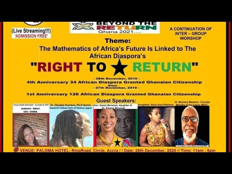 Right to Return Last Town Hall Meeting for 2020