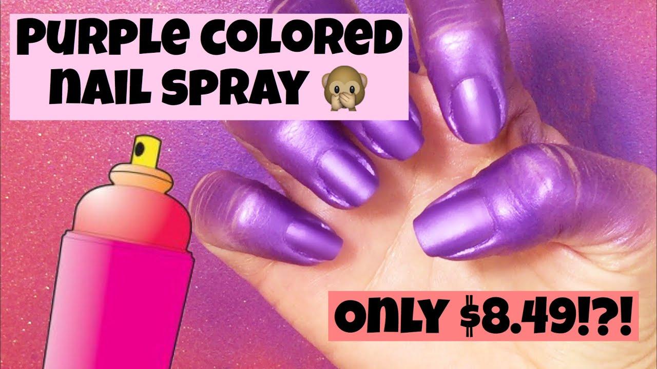 Spray on nail polish china glaze nail spray reviews - Purple Shimmer Spray On Nail Polish China Glaze Colored Nail Spray
