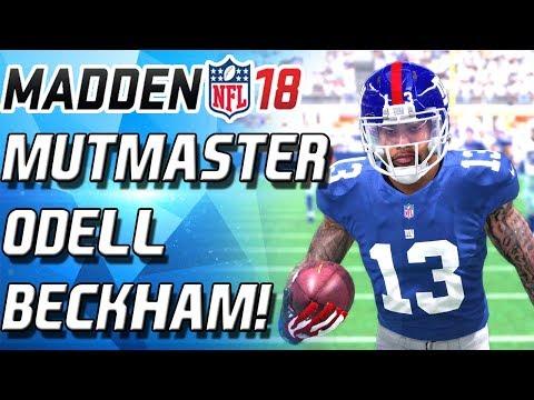 MUT MASTER ODELL BECKHAM! INSANE DIVING CATCH! BEST WR IN MADEN! - Madden 18 Ultimate Team