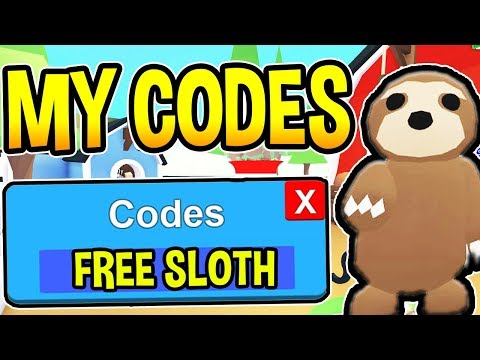 ADOPT ME CODES 2019 - NEW FREE SLOTH Update | Roblox