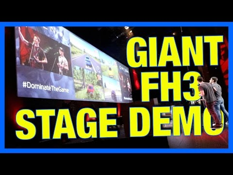 Playing Forza Horizon 3 on a MASSIVE Stage!!