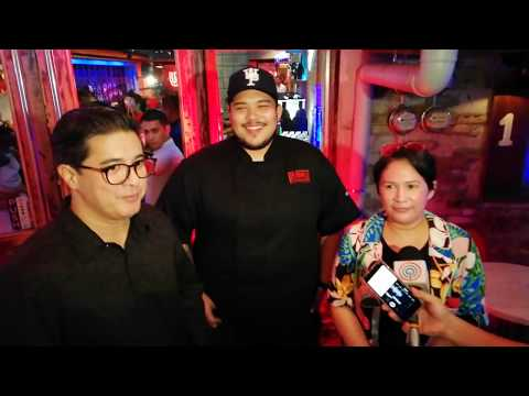 Aga Muhlach, Janice De Belen and Luigi Muhlach (Interview BTS) at LUMU Beerhouse & Filipino Kitchen