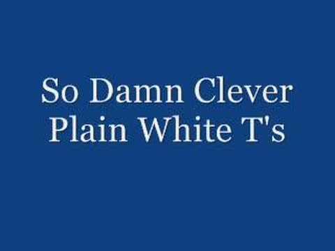 Plain White T`s - So Damn Clever K-POP Lyrics Song
