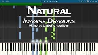 Imagine Dragons - Natural (Piano Cover) Synthesia Tutorial by LittleTranscriber