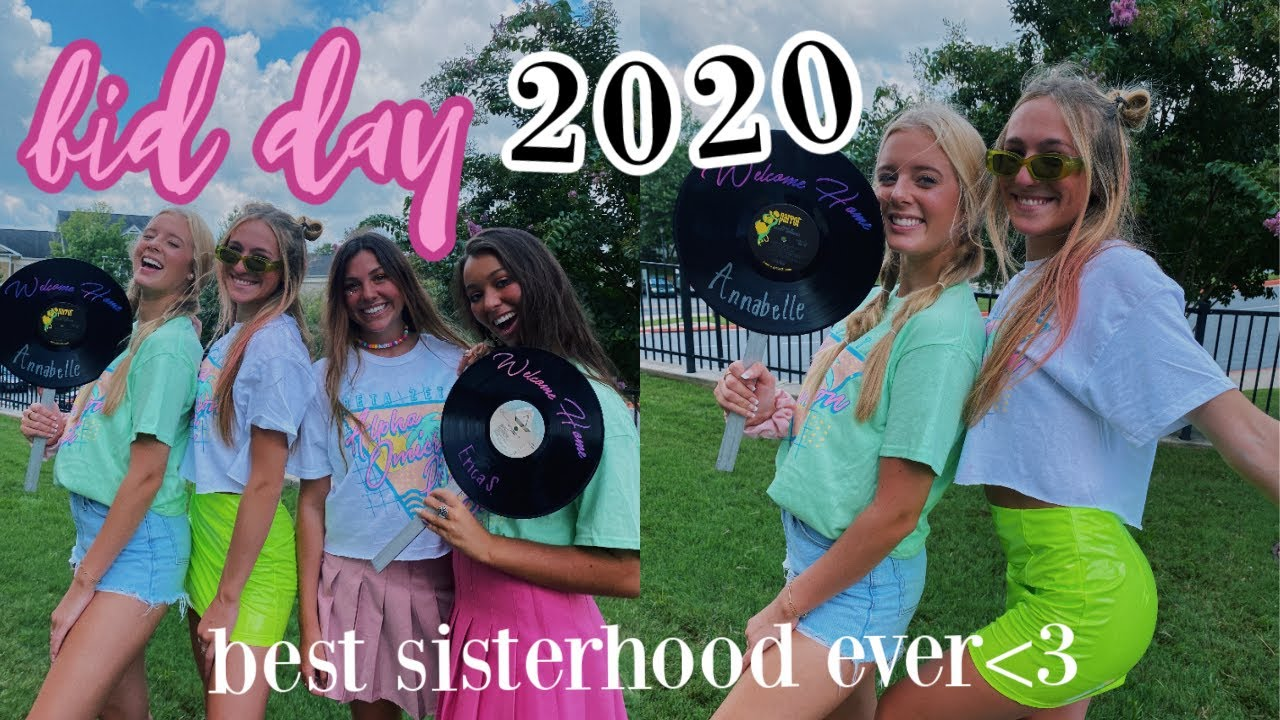 sorority recruitment: BID DAY 2020