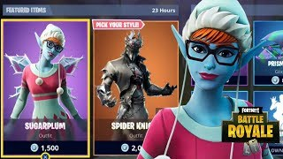 NEW SUGARPLUM SKIN GAMEPLAY NEW FORTNITE ITEM SHOP UPDATE (Fortnite Battle Royale)