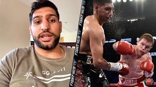 """AMIR KHAN SHARES FUNNY STORY ON CANELO FIGHT """"I HIT HIM AND WAS LIKE OH S***"""""""