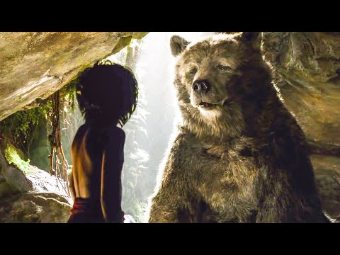 Mowgli Meets Baloo Scene - THE JUNGLE BOOK (2016) Movie Clip