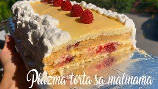 Plazma torta sa malinama i belom cokoladom - Raspberry Cake - CooKing Recepti