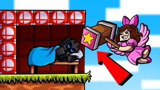 Minecraft: SUPER SMASH BROS LUCKY BLOCK BEDWARS! - Modded Mini-Game