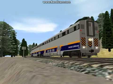Trainz 12-Amtrak Surfliner F59PHI 458 w/Surfliner Cars - Action News