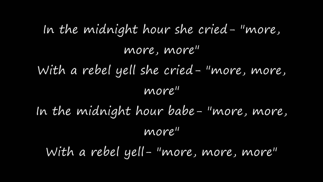 Billy Idol Rebel Yell Lyrics Chords   Chordify