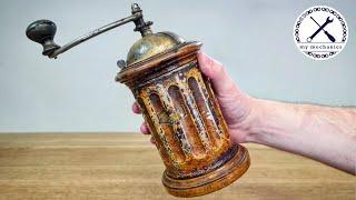 Старинная итальянская кофемолка - реставрация