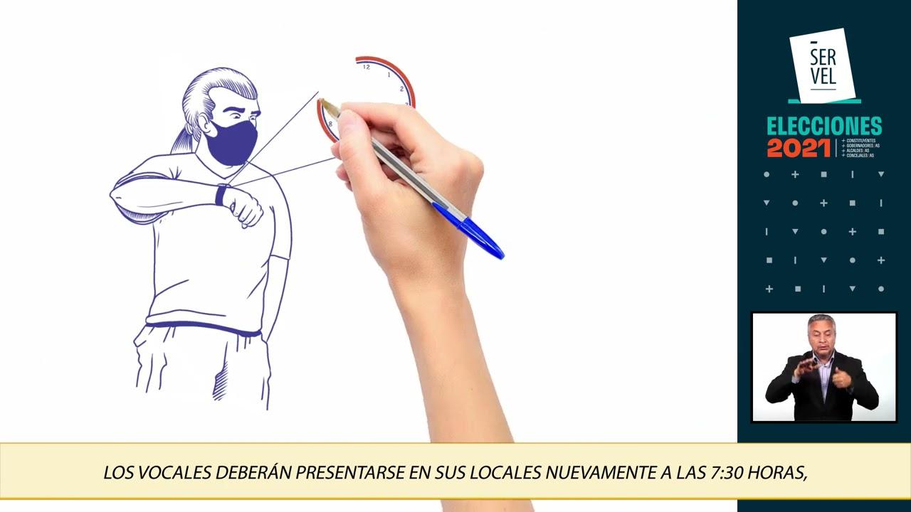 Vocales de Mesas Receptoras de Sufragios, video 02 (lengua de señas)