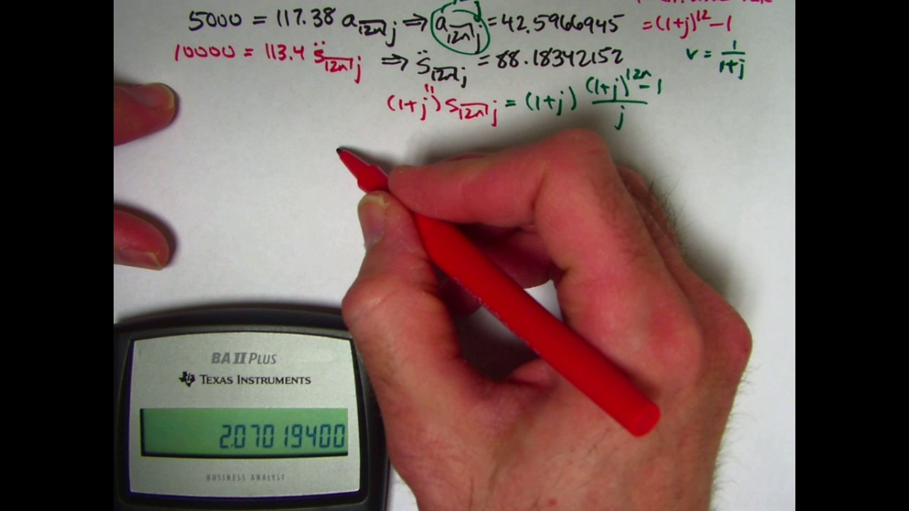 actuarial exam 2  fm prep  equivalent interest rate given