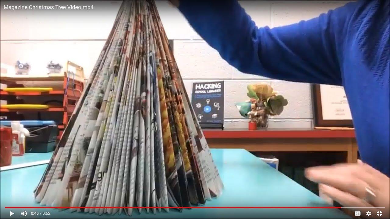 Holiday Hacks | Make a Folded Magazine Christmas Tree ...