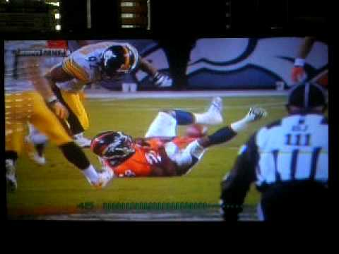 James Harrison hit on Buckhalter !! MNF 11-9-09