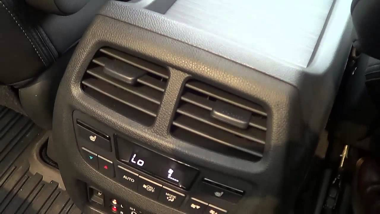 heated and cooled seats in the 2016 honda pilot touring youtube. Black Bedroom Furniture Sets. Home Design Ideas