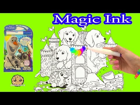 Disney Frozen + Lisa Frank Imagine Ink Rainbow Color Change Pen Art Book With Surprise Pictures