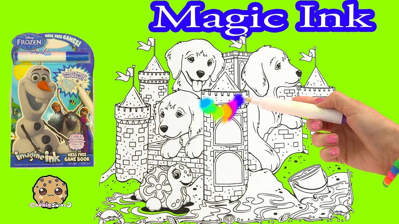Disney Frozen Lisa Frank Imagine Ink Rainbow Color Change Pen Art Book With Surprise Pictures