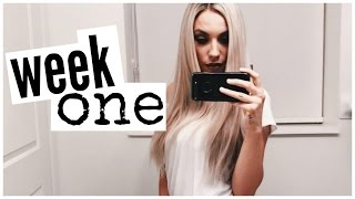GRWM + Week One in my New Place